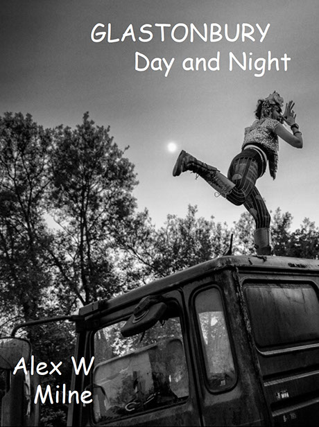 Glastonbury Day and Night. A photo documentary eBook of the Glastonbury Festival, in black and white. Featuring Kanye West, FLorence and the Mac